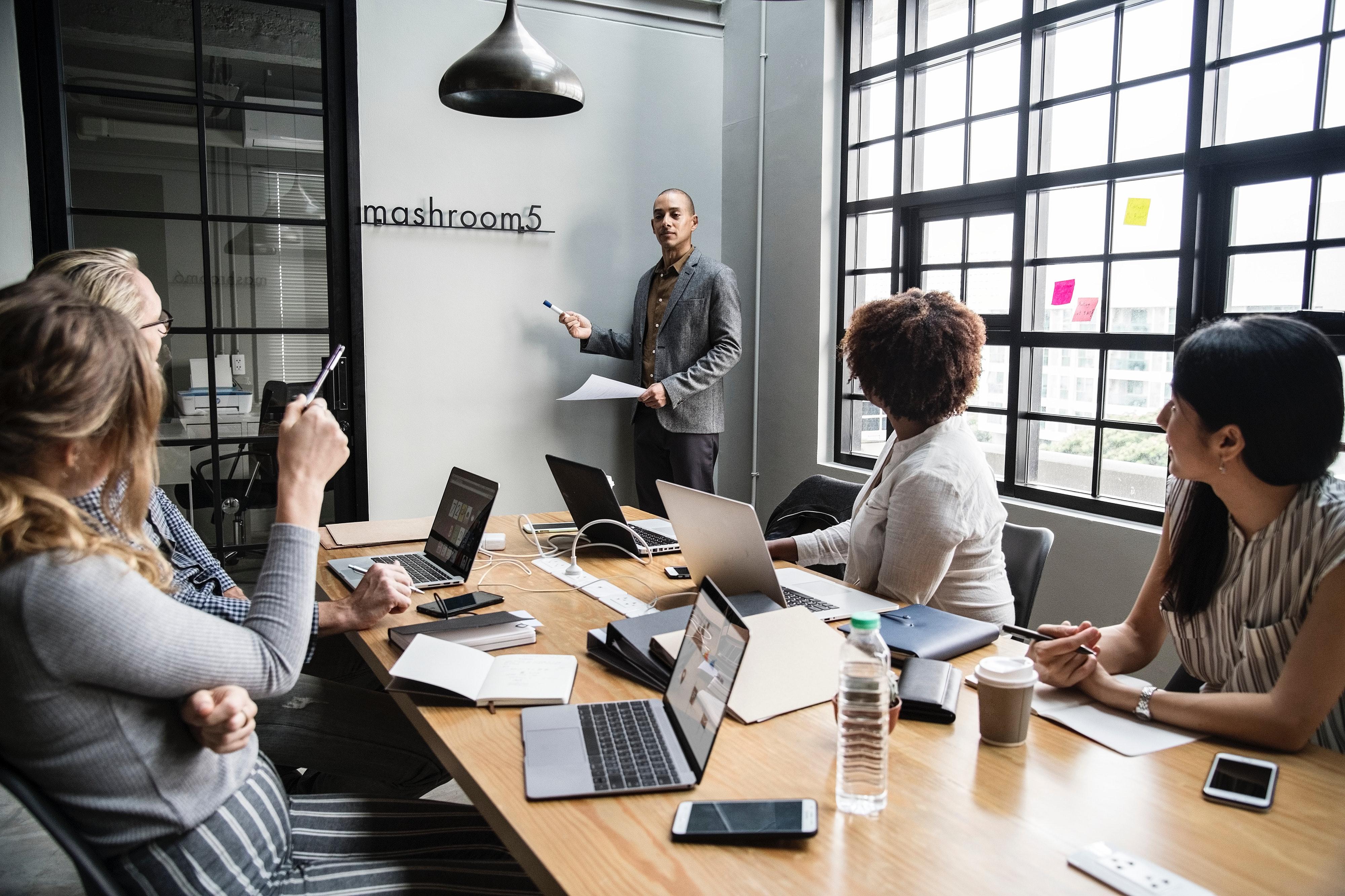 sala de reunião automatizada